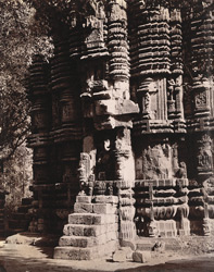 Close view of moulding at base of tower of Mahadeva Temple, Chandesvara, Puri District